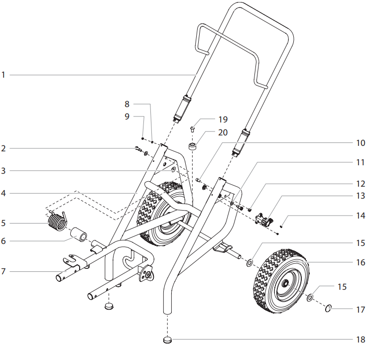 Impact 1040T Upright Cart Assembly
