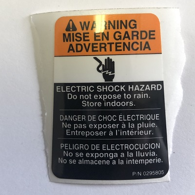Shock hazard label