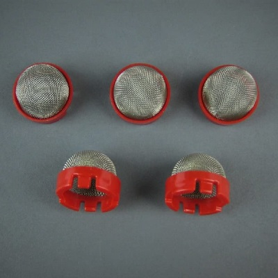 Titan 0529916 Fine Suction Tube Filter (Red 5 pc)