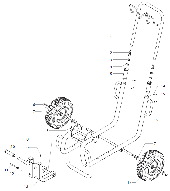 PowrTwin 12000 Plus DI Cart Assembly