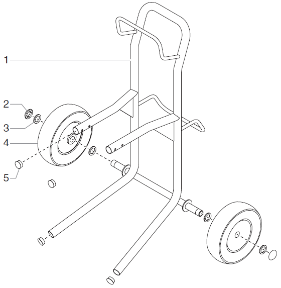 RentSpray 650 High Rider Cart Assembly