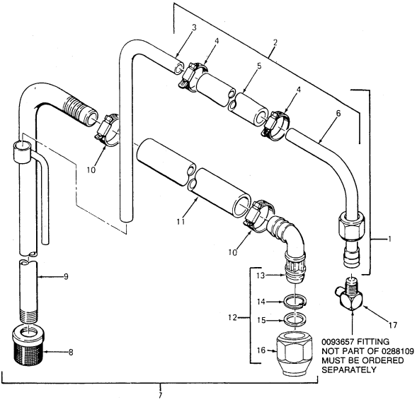 1075 Pro Pak Optional Suction Set Assembly