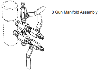 PowrTwin 3500 50th Ann Multiple Gun Add-On Manifold Assemblies