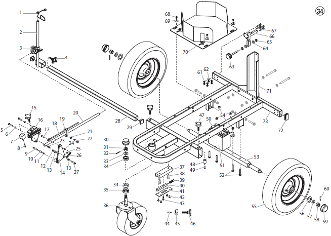 PowrLiner 6950 Cart Assembly I