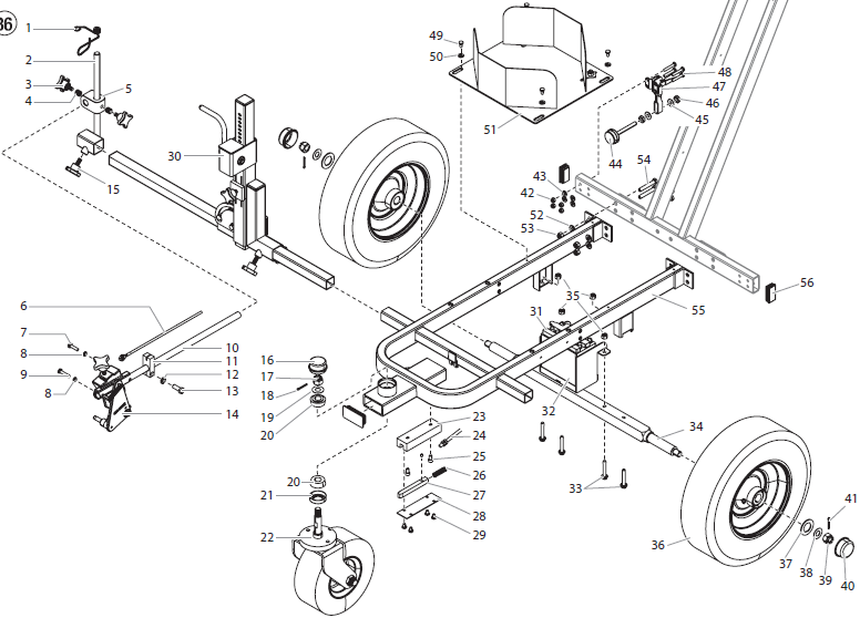 PowrLiner 6955 Cart Assembly I