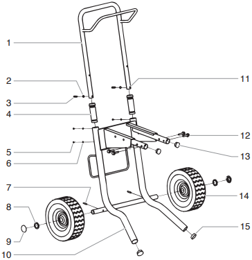 740i High Rider Cart Assembly (P/N 800-570)
