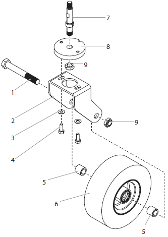 PowrLiner 8955 Caster Assembly
