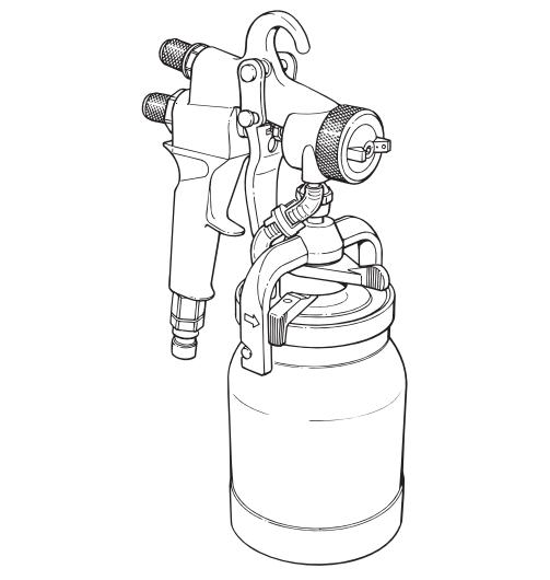 Capspray Maxum Ii Hvlp Spray Gun Titan Speedflo Wagner Spraytech Parts