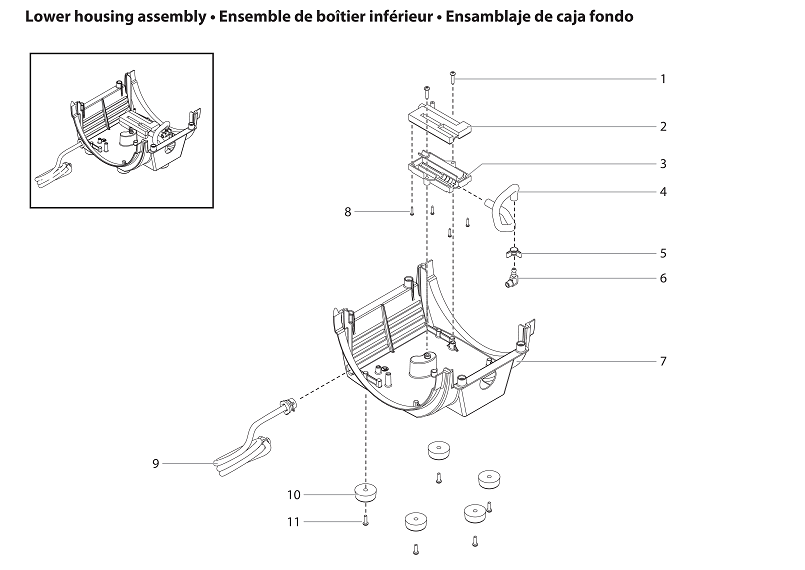 CapSpray 115 Lower Housing Assembly