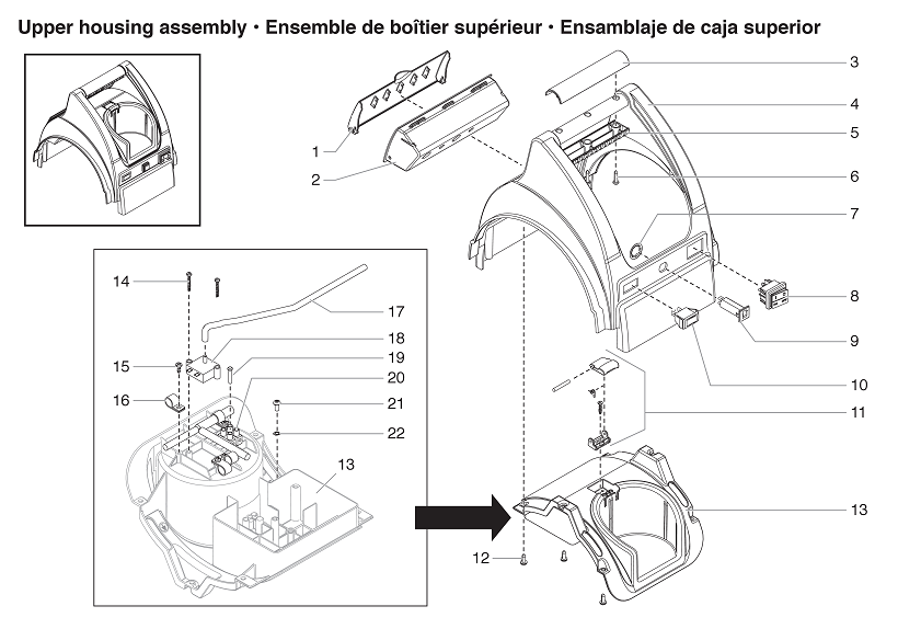 CapSpray 95 Upper Housing Assembly