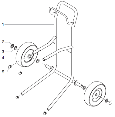 EPX2155 Upright Cart Assembly (P/N 0551110)