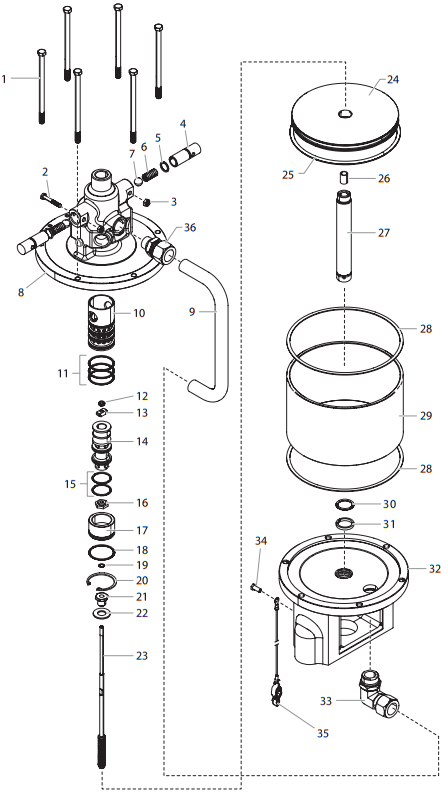 PowrCoat 745 Air Motor Assembly