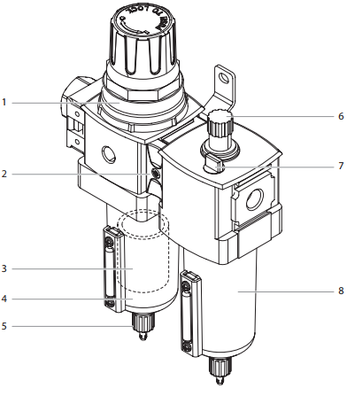 PowrCoat 745 Automatic lubricator assembly