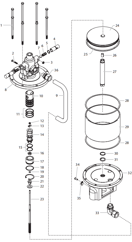 PowrCoat 960 Air Motor Assembly