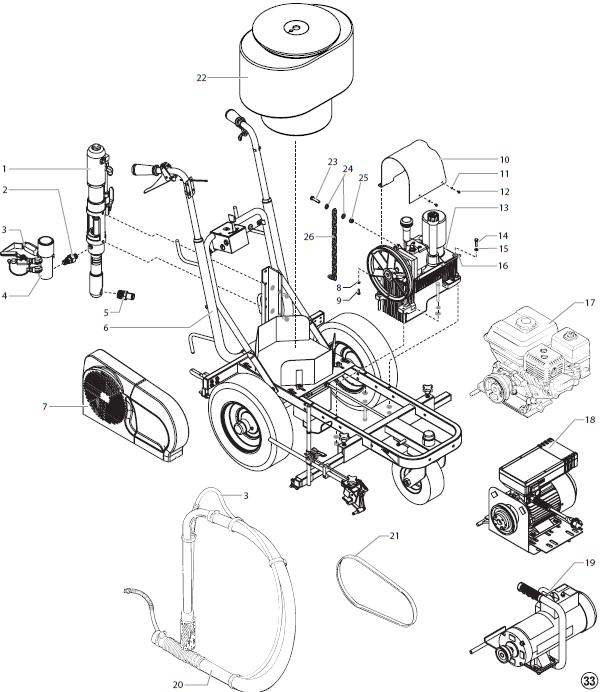powrliner 4950 parts   titan  speedflo  wagner  spraytech parts  oem paint sprayer parts