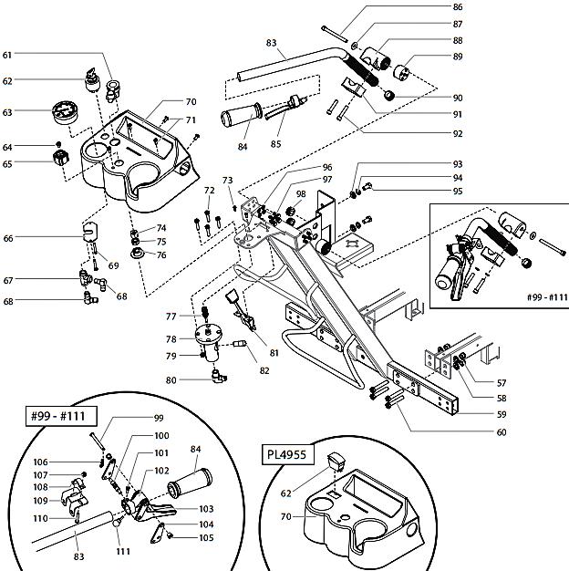 powrliner 4955   titan  speedflo  wagner  spraytech parts  oem paint sprayer parts