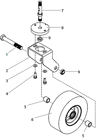 PowrLiner 4955 Caster Assembly
