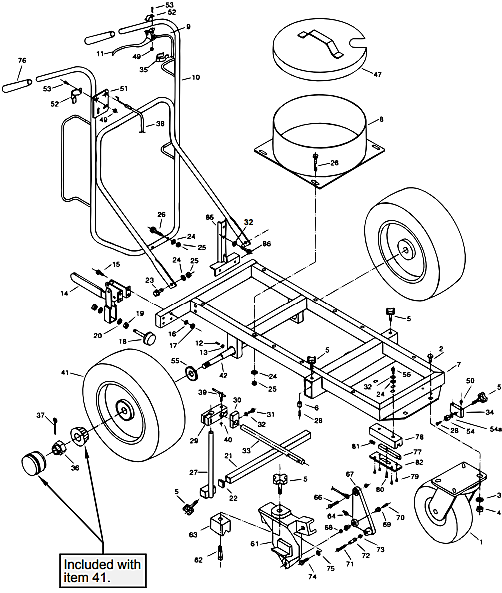 PowrLiner 5000 Cart Assembly (P/N 759-001)