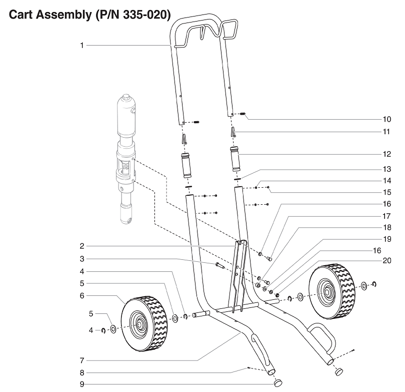 PowrTwin 4900XLT Cart Assembly