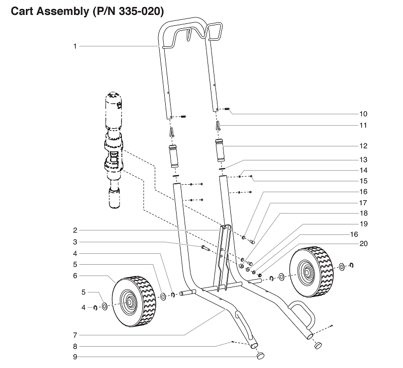 PowrTwin 4900GH Cart Assembly