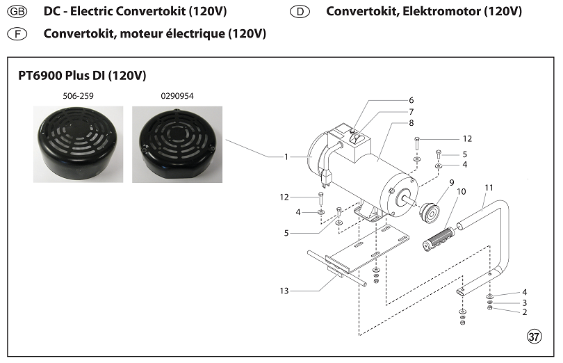 PowrTwin 6900 Plus DI DC — Electric Convertokit (120v)