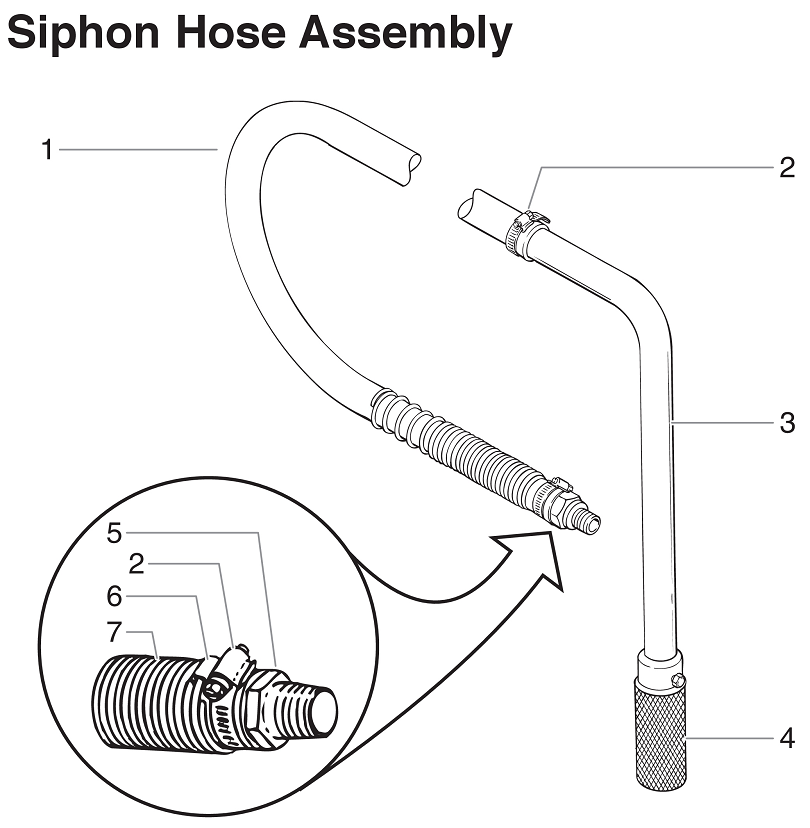 PowrTwin 6900GH Siphon Hose Assembly