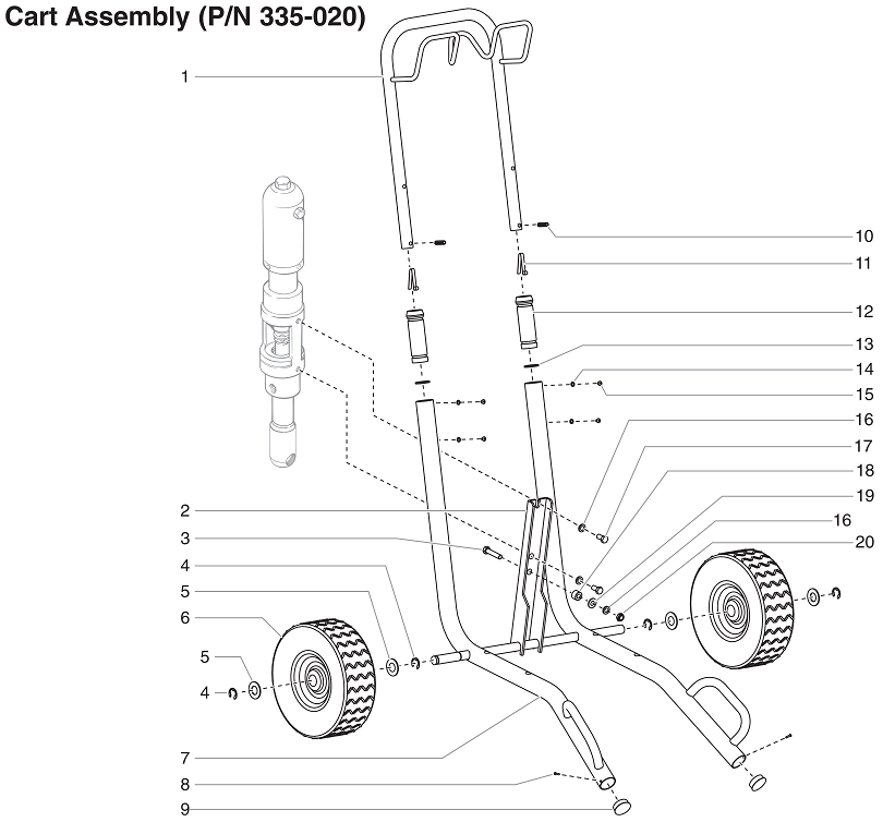PowrTwin 6900XLT Cart Assembly