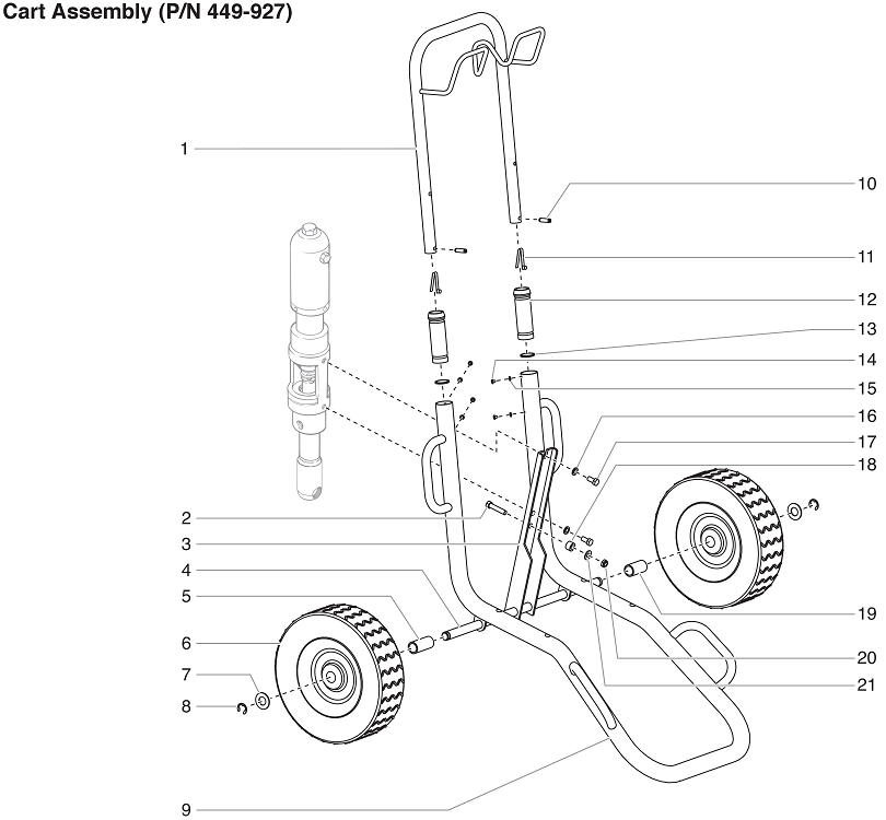 PowrTwin 8900XLT Cart Assembly