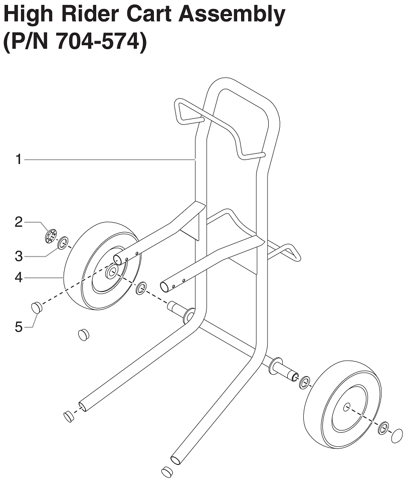 RentSpray 600 High Rider Cart Assembly