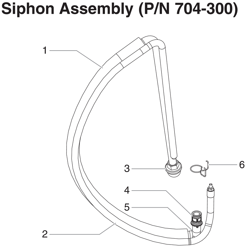 RentSpray 650 Siphon Assembly